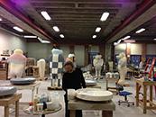 Jun Kaneko at work in his Omaha studio