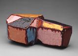 Hand-built glazed ceramic   9.5h x 16w x 6.5d in.   Photo credit Dirk Bakker
