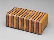 Hand-built glazed ceramic | 4.5h x 8.5w x 3.25d in. | Photo credit Dirk Bakker