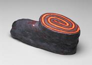 Hand-built glazed ceramic   4.5h x 11.5w x 4.75d in.   Photo credit Dirk Bakker