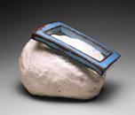 Hand-built glazed ceramic | 9.5h x 6w x 6.5d in. | Photo credit Dirk Bakker
