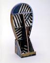 Hand-built glazed ceramic   43.5h x 20.5w x 14d in.   Photo credit Dirk Bakker