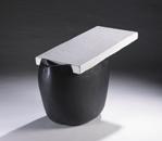 Hand-built glazed ceramic   46.5h x 16w x 24.5d in.   Photo credit Dirk Bakker