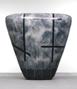 Hand-built glazed ceramic | 79h x 80w x 33d in. | Photo credit Dirk Bakker