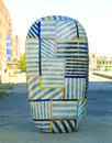 Hand-built glazed ceramic | 92h x 54w x 27d in. | Photo credit Dirk Bakker