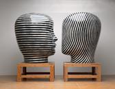 Glazed ceramics | L: 69h x 49w x 56d in. R: 69.5h x 51w x 57d in. | Photo credit Dirk Bakker