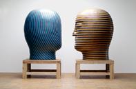 Glazed ceramics | L: 69h x 45.5w x 50.5d in. R: 70h x 48w x 56d in. | Photo credit Dirk Bakker