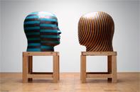 Glazed ceramics | L: 44h x 41w x 34d in. R: 43h x 37.5w x 32.5d in. | Photo credit Dirk Bakker
