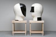 Glazed ceramics | L: 38h x 22w x 25d in. R: 38h x 22w x 27d in. | Photo credit Dirk Bakker