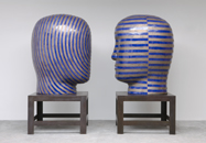 Glazed ceramics | L: 68h x 48w x 58d in. R: 68h x 42w x 52d in. | Photo credit Dirk Bakker