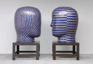 Glazed ceramics | L: 68h x 48w x 58d in. R: 68h x 42w x 52d in. | Photo credit Dirk Bakker