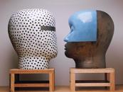 Glazed ceramics | L: 78h x 58w x 58d in. R: 72h x 47w x 60d in. | Photo credit Dirk Bakker
