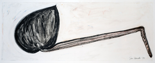 Ink and oilstick on paper | 35.75h x 85.75w in. | Photo credit Dirk Bakker
