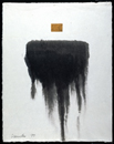 Sumi ink/oilstick on Korean rice paper | 24.5h x 19.5w in. | Photo credit Dirk Bakker