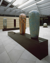 Hand-built glazed ceramics, granite