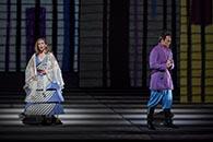 Heidi Stober, Pamina, and Alek Shrader, Tamino | Photo credit: Takashi Hatakeyama