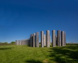 38 glazed ceramic columns, 148 x 30 inches each   photo: Takashi Hatakeyama